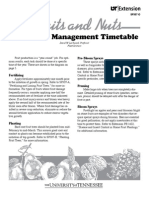 Fruit Tree Management Timetable