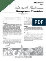Fruit Tree Management Timetable