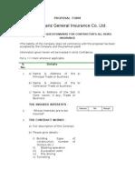 CONTRACTORS ALL RISK INSURANCE Proposal Form
