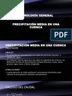 Precipitación Media en La Cuenca
