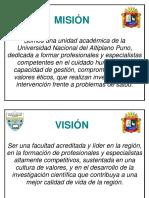 Misión - Vision Fac. Enfermeria