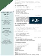 diaz merarys resume - revised 7 13 17