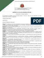 Decreto Nº 1.894, De 1894, Código Sanitário