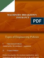 MACHINERY BREAKDOWN INSURANCE Presentation