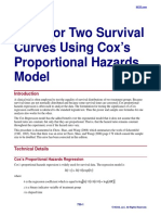 Tests for Two Survival Curves Using Cox's Proportional Hazards Model
