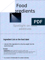Day 5 - Food Additives
