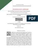 Glauber Annotations Sur l'Appendix Frances