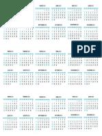 Calendario 2012-2016