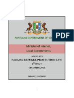 Puntland Refugee Protection Law