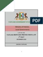 Puntland Refugee Protection Law