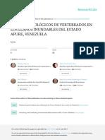 Estudios Ecologicos de Vertebrados en Los Llanos i