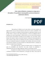Consciencia Histórica, Ensino de Historia e Orientações No Tempo Para a Vida Pratica.
