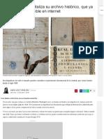 El archivo municipal de Cáceres digitaliza su fondo histórico que ya está disponible en internet (12/7/2017)