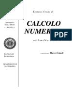 Esercizi calcolo numerico unipd