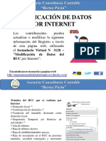 Modificacion de Datos Por Internet