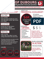 scholarship tuition flyer 2016