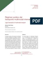 Régimen jurídico del transporte multimodal internacional