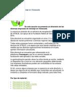 Empresas de reciclaje en Venezuela.docx