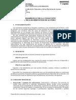 Programa de Desarrollo de La Colección y de Los Servicios de Acceso 2013