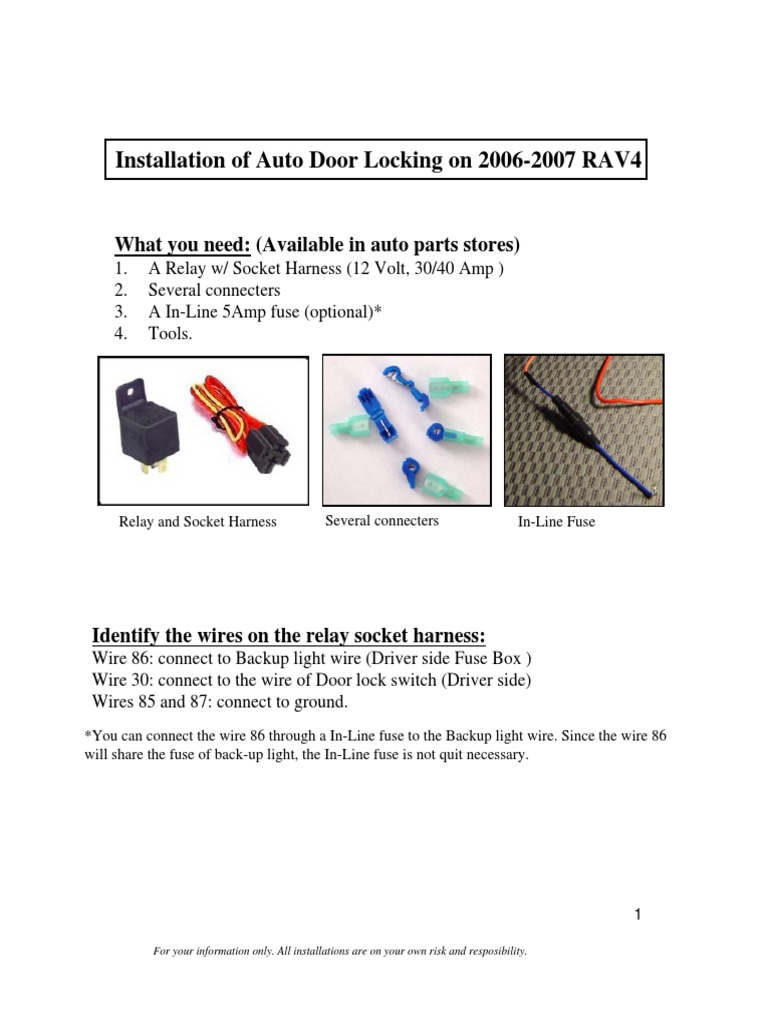 Auto Lock Installation 43 Fuse Electrical Connector Automotive Box Back