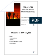 Ista421ML Lec 01 Introduction