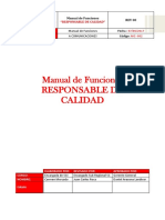 Plantilla Manual de Funciones y Perfil de Puestos