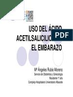 USO DE ACIDO ACETILSALICILICO EN EMBARAZO