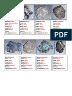 minerales en rocas