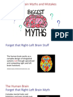 Myths about the Brain and Learning