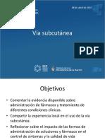 USO DE LA VIA SUBCUTÁNEA EN CUIDADOS PALIATIVOS - Cibersalud