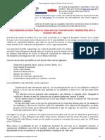 Recomendaciones Seguro de Transporte Terrestre en Lima