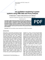 Online Inter-Area Oscillation Monitoring in Powersystems Using PMU Data and Prony Analysis