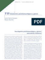 Tratamientos psicofarmacolo¦ügicos y ge¦ünero