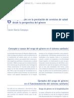 Desigualdades en la prestacio¦ün de servicios de salud desde la perspectiva del ge¦ünero