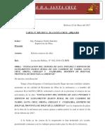 Carta 05 - Reinicio de Obra