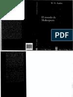 W. H. Auden - El Mundo de Shakespeare