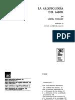 Foucault - Castro, Pensar a Foucault. Interrogantes Filosóficos de La Arqueología Del Saber