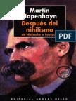 Después Del Nihilismo de Nietzsche a Foucault