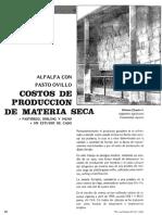 Produccion de Materia Seca