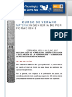 Expo. Perf. y Term. de Pozos en Aguas Prof.