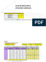 Taller de Nivelación 2 Excel
