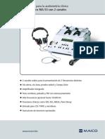 Datasheet Audiometer Ma53 Sp