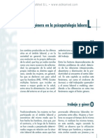 Influencia del ge¦ünero en la psicopatologi¦üa laboral
