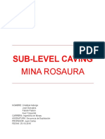 Sub-Level Caving Mina Rosaura