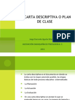 Carta Descriptiva Plan de Clase