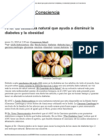 AHC_ La Sustancia Natural Que Ayuda a Disminuir La Diabetes y La Obesidad _ Llamado a La Consciencia