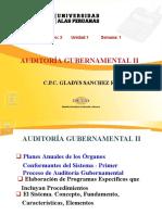 Auditoría Gubernamental II - Semana 01