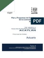 Tomo II Plan Estudios Actuaría