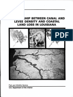 Canal and Levee Density and Coastal Land Loss in Louisiana