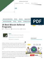 20 Best Bitcoin Referral Programs